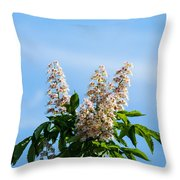 Chestnut Tree Blossoms - Featured 2 Throw Pillow
