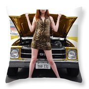 Chevelle Chick Throw Pillow