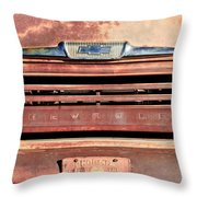Chevrolet Apache 31 Pickup Truck Grille Emblem Throw Pillow