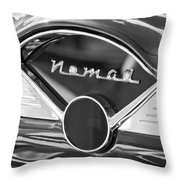 Chevrolet Belair Nomad Dashboard Emblem Throw Pillow