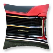 Chevrolet Chevelle Ss Grille Emblem Throw Pillow