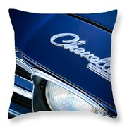 Chevrolet Chevelle Ss Hood Emblem Throw Pillow