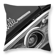 Chevrolet Chevelle Ss Taillight Emblem Throw Pillow