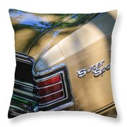 Chevrolet Chevelle Ss Taillight Emblems Throw Pillow