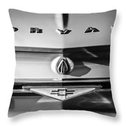 Chevrolet Corvair Emblem -0082bw Throw Pillow