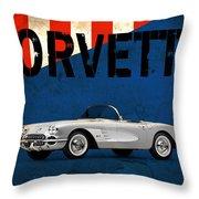 Chevrolet Corvette 1958 Throw Pillow