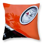 Chevrolet Corvette Hood Emblem Throw Pillow