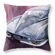 Chevrolet Corvette Sting Ray 1965 Throw Pillow