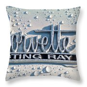1966 Chevrolet Corvette Sting Ray Emblem -0052c Throw Pillow