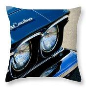 Chevrolet El Camino Hood Emblem - Head Lights Throw Pillow