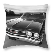 Chevrolet El Camino In Black And White Throw Pillow