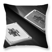 Chevrolet Emblem - 131bw Throw Pillow