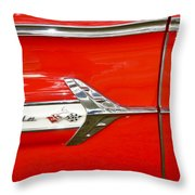 Chevrolet Impala Classic In Red Throw Pillow
