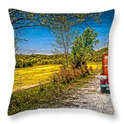 Chevy 34 Sweet Country Road Throw Pillow