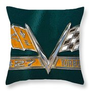 Chevy 427 Turbo Jet Throw Pillow