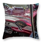 Chevy Bel Air Dash Throw Pillow