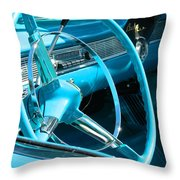 Chevy Bel Air Interior  Throw Pillow