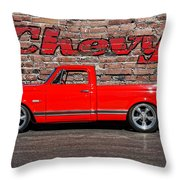 Chevy C10 Pickup Throw Pillow