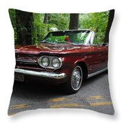 Chevy Corvair Throw Pillow