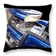 Chevy Hot Rod Engine Throw Pillow