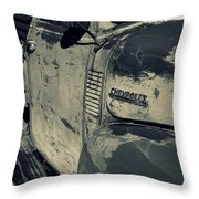 Arroyo Seco Chevy In Silver Throw Pillow