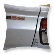 Chevy Nova Ss Emblem And Tail Light Throw Pillow