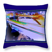 Chevy Psycho Delic Throw Pillow by Bobbee Rickard