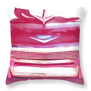 Chevy - Red Throw Pillow