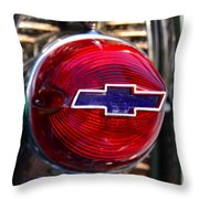 Chevy Red White And Blue Throw Pillow