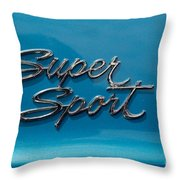 Chevy Super Sport II Emblem Throw Pillow