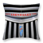 Chevy Truck Grill Throw Pillow