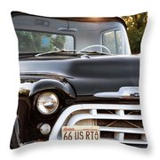 Chevy Truck Throw Pillow by John Rizzuto