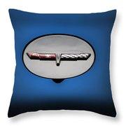 Chevy Vet Gas Cap Emblem Throw Pillow