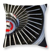 Chevy Wheel Throw Pillow