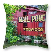 Chew Mail Pouch Tobacco  Throw Pillow