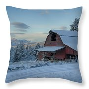 Chewelah Barn Throw Pillow