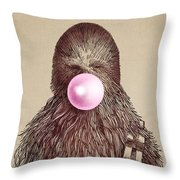 Big Chew Throw Pillow by Eric Fan