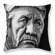 Cheyenne Indian Man Circa 1927 Throw Pillow