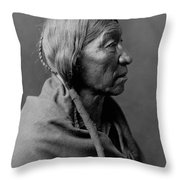 Cheyenne Indian Woman Circa 1910 Throw Pillow
