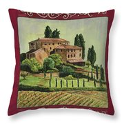Chianti And Friends Collage 1 Throw Pillow
