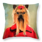 Chic Yorkshire Terrier Throw Pillow