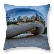 Chicago - Cloudgate Reflections Throw Pillow