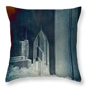 Chicago 4 Tall Shoulders Textured Throw Pillow