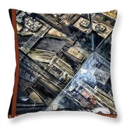 Chicago A View From The Top Of Sears Willis Tower Hdr Triptych 3 Panel Throw Pillow