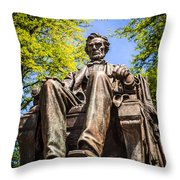 Chicago Abraham Lincoln Sitting Statue Throw Pillow