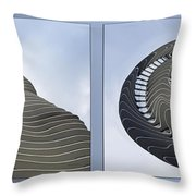 Chicago Abstract Before And After Radisson Blu Hotel 2 Panel Throw Pillow