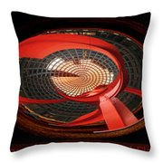 Chicago Abstract Calder Red Flamingo Triptych 3 Panel Throw Pillow