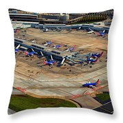 Chicago Airplanes 03 Throw Pillow
