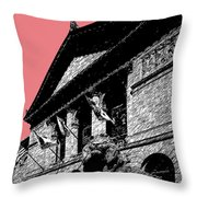 Chicago Art Institute Of Chicago - Light Red Throw Pillow by DB Artist