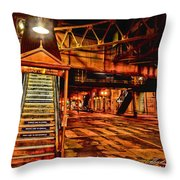 Chicago At Night I Throw Pillow